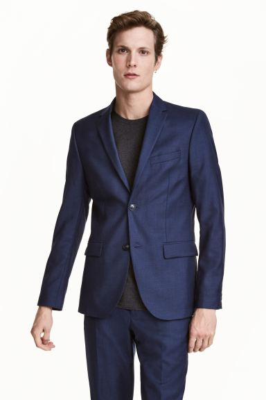 Blazer in lana Regular fit - Navy - UOMO | H&M IT