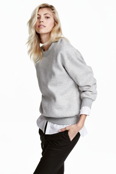 Sweatshirt - Grey marl - Ladies | H&M GB