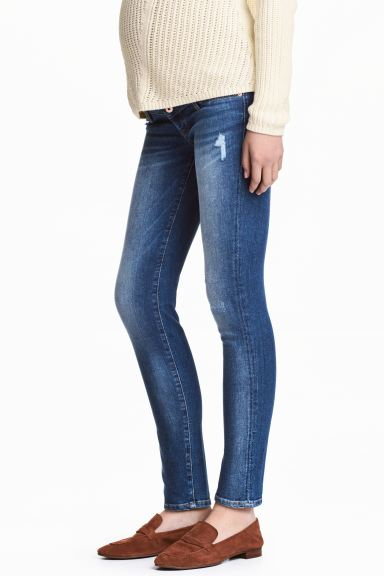 MAMA Skinny Jeans - Denim blue/washed - Ladies | H&M US