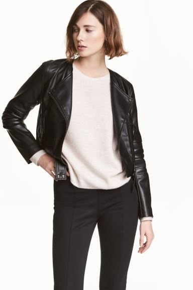 Short biker jacket - Black - Ladies | H&M GB