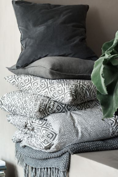 Moss-knit Throw - Gray - Home All | H&M US