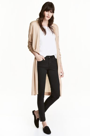 Long cardigan - Light beige marl - Ladies | H&M GB