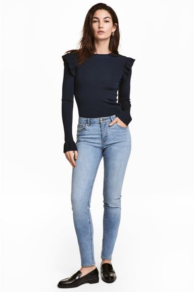 Superstretchbroek - Licht denimblauw - DAMES | H&M NL