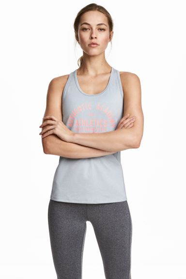 Sports vest top - Light grey marl - Ladies | H&M GB