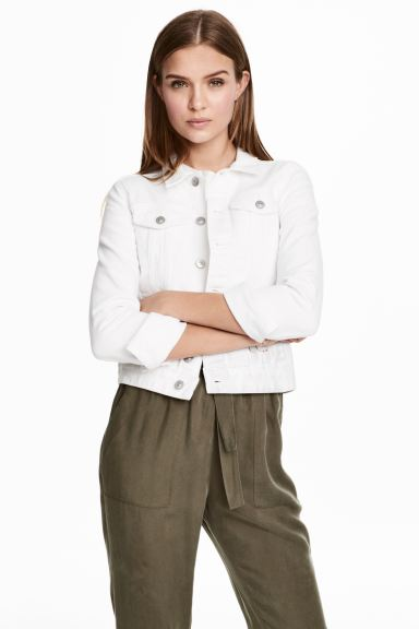 Denim jacket - White denim - Ladies | H&M GB