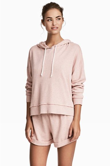 Lounge set with top and shorts - Old rose - Ladies | H&M IE