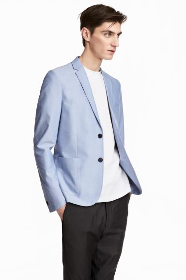 Chambray jacket Slim fit - Light blue - Men | H&M GB