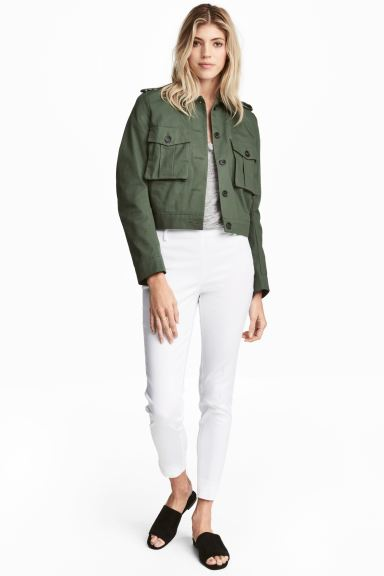 Cigarette trousers - White - Ladies | H&M GB