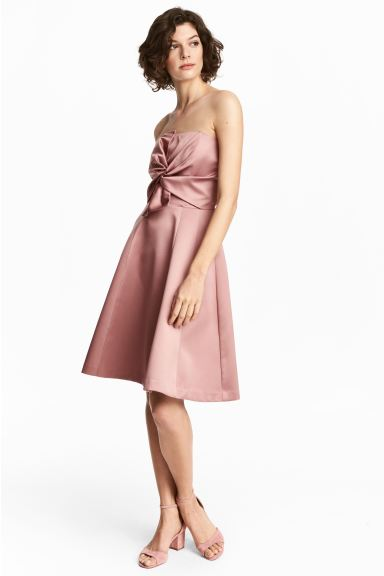 Short bandeau dress - Vintage pink - Ladies | H&M GB