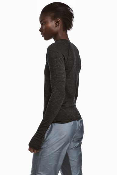 Seamless sports top - Dark grey marl - Ladies | H&M GB