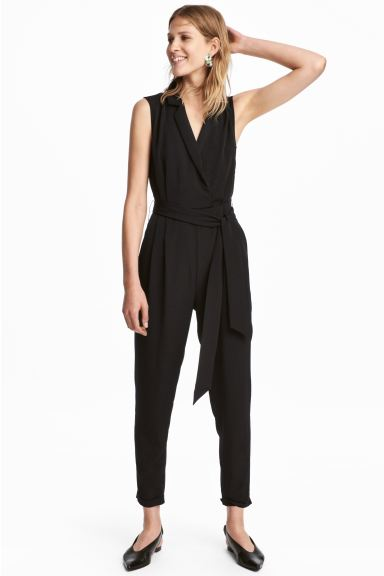 Sleeveless jumpsuit - Black - Ladies | H&M GB