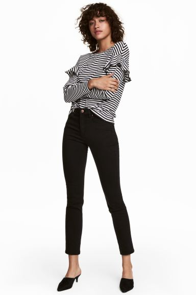 Ankle-length stretch trousers - Black - Ladies | H&M GB