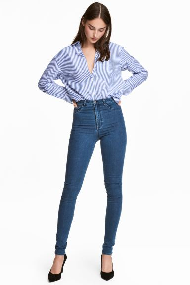 Super Skinny High Jeggings - Blue - Ladies | H&M