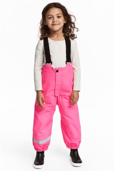 Outdoor trousers with braces - Neon pink - Kids | H&M GB