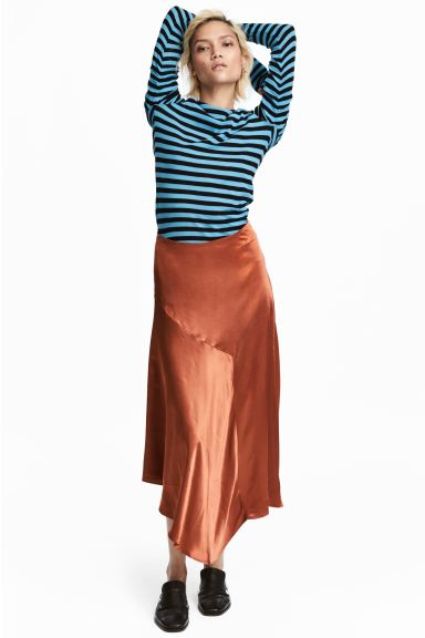 Satin skirt - Rust - Ladies | H&M GB