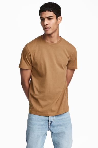 3-pack T-shirts Regular Fit - Light beige - Men | H&M