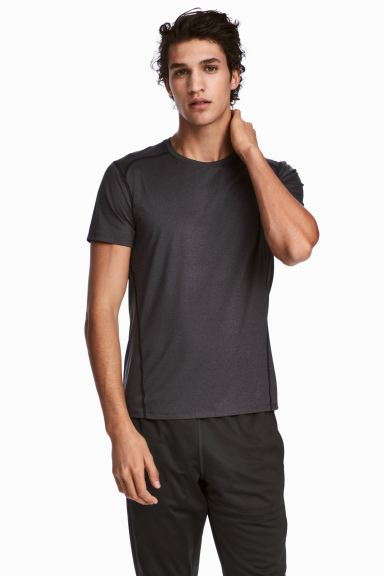 Sports top - Dark grey - Men | H&M GB
