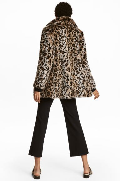 Faux fur jacket - Leopard print - Ladies | H&M IE