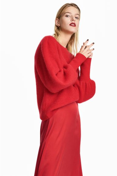 Mohair-blend jumper - Red - Ladies | H&M GB
