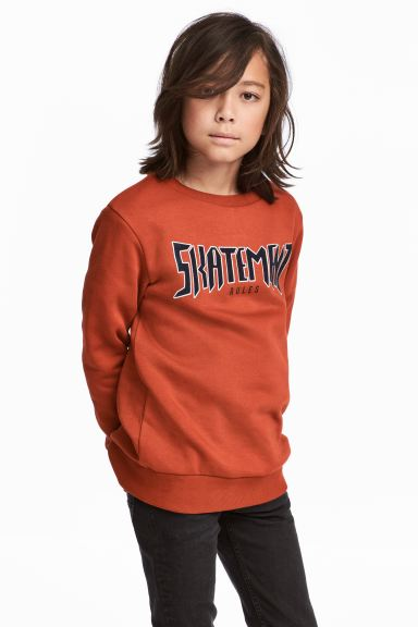 Printed sweatshirt - Rust red - Kids | H&M GB