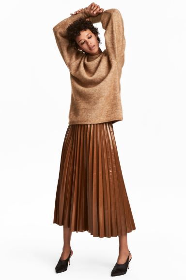 Pleated Skirt - Brown - Ladies | H&M US