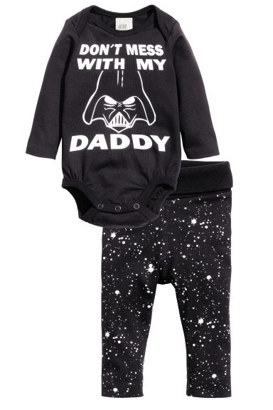 Bodysuit and trousers - Black/Star Wars - Kids | H&M GB