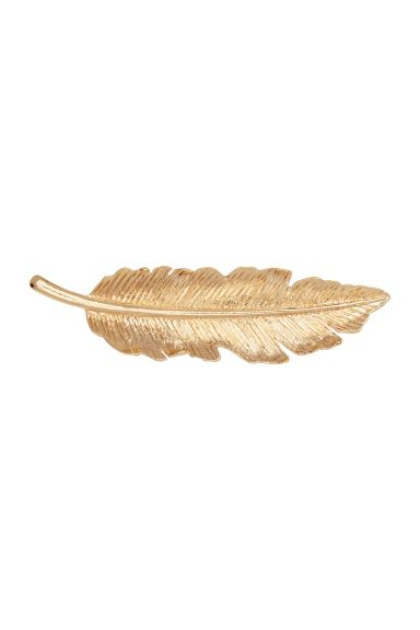 Leaf-shaped hair clip - Gold - Ladies | H&M GB