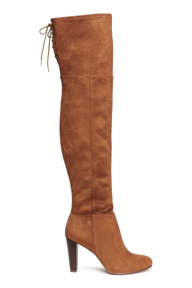 Thigh boots - Brown - Ladies | H&M GB