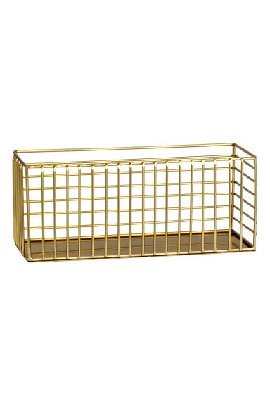 Basket in metal wire - Gold - Home All | H&M GB