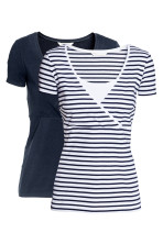 White/Dark blue/Striped
