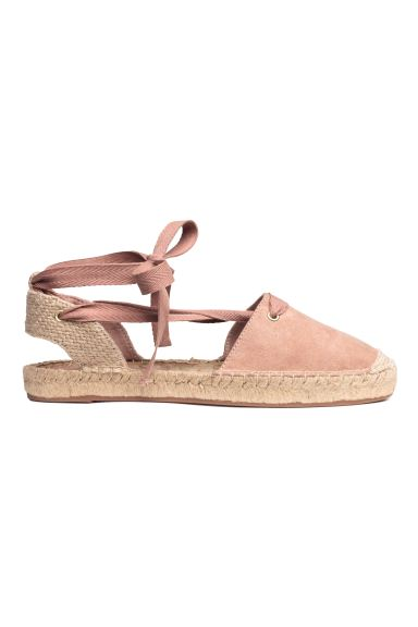 Espadrilles with lacing - Powder pink - Ladies | H&M CA