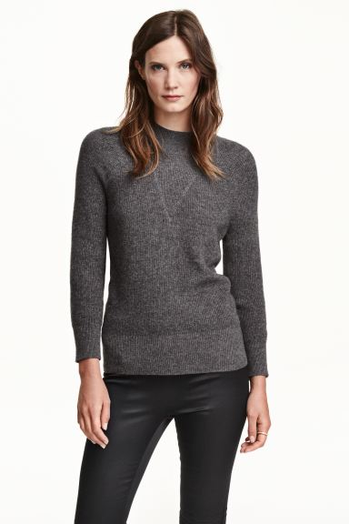 Cashmere jumper - Dark grey marl - Ladies | H&M GB