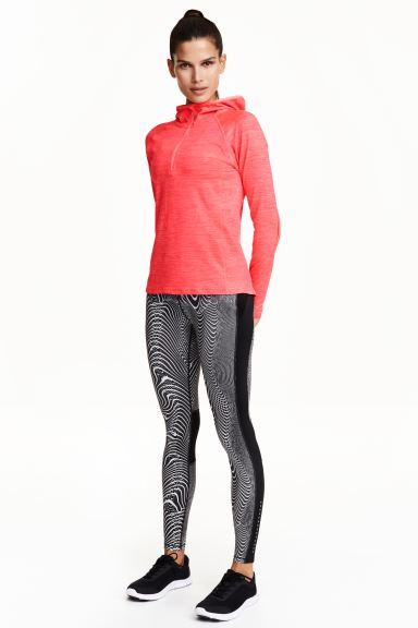 Running tights - Black/Patterned - Ladies | H&M GB