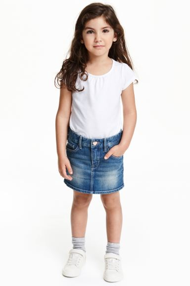 Denim skirt - Denim blue - Kids | H&M GB