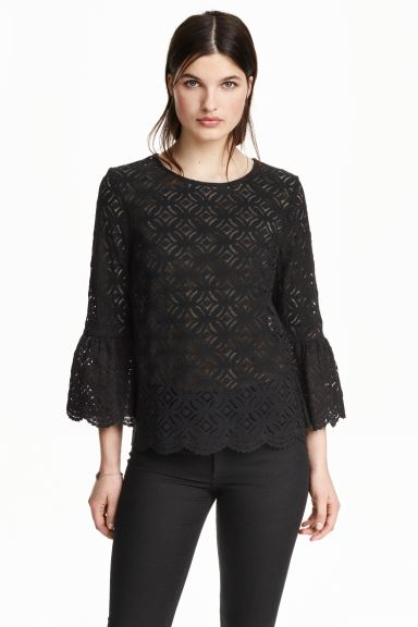 Lace top - Black - Ladies | H&M GB