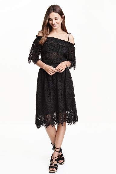 Lace skirt - Black - Ladies | H&M GB
