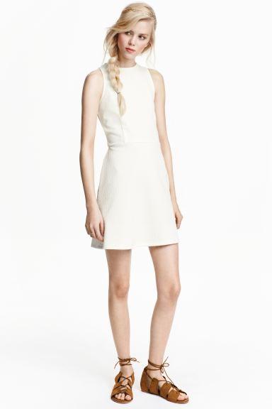 Textured Dress White Las H M Gb