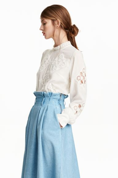 Lace blouse - White - Ladies | H&M GB