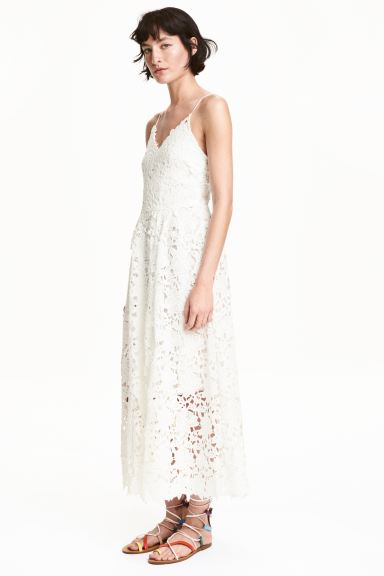 Lace dress - White - Ladies | H&M GB