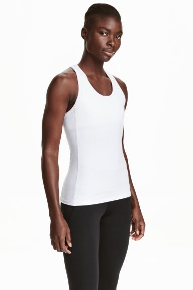 Sports vest top - White - Ladies | H&M GB