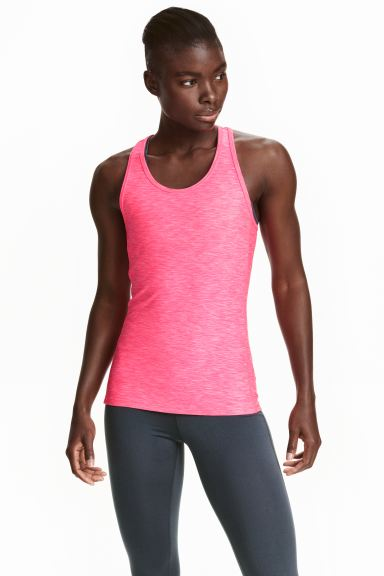 Sports vest top - Neon pink marl - Ladies | H&M GB