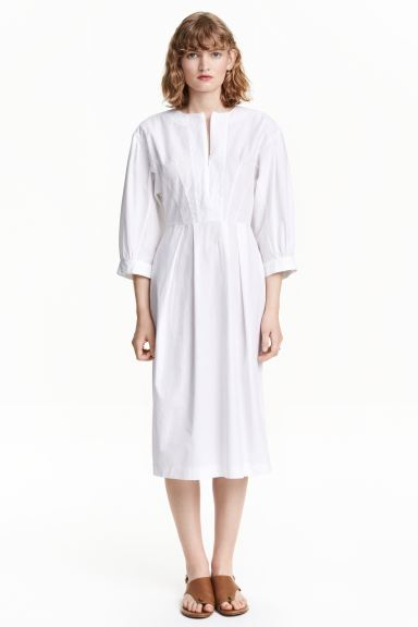Dress with balloon sleeves - White - Ladies | H&M GB