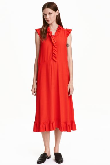 Dress with frills - Red - Ladies | H&M GB