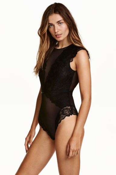 Lace body - Black - Ladies | H&M GB
