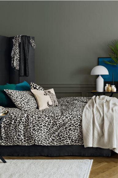 Leopard Print Duvet Cover Set Light Grey Black Home All H M Gb