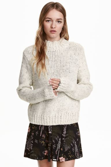 Turtleneck jumper - Natural white - Ladies | H&M CA