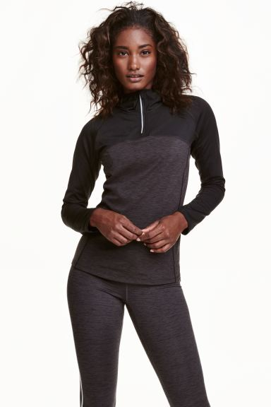 Running top - Black marl - Ladies | H&M GB