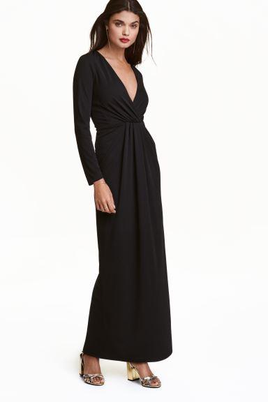 Wonderlijk Maxi-jurk met V-hals - Zwart - DAMES   H&M NL EU-73
