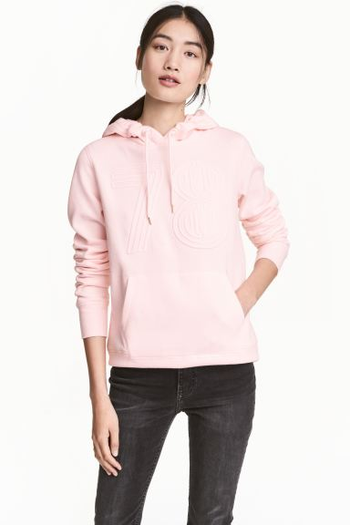 Hooded top - Light pink - Ladies | H&M