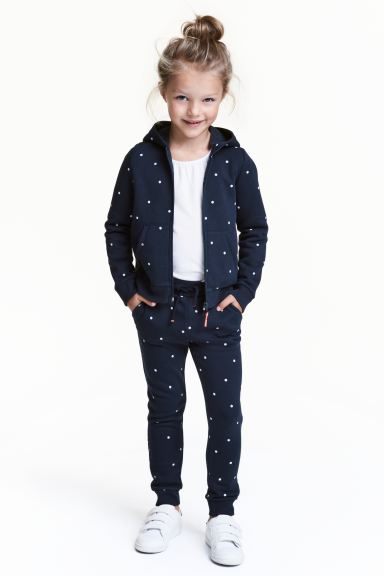 Joggers - Dark blue/Spotted - Kids | H&M IE